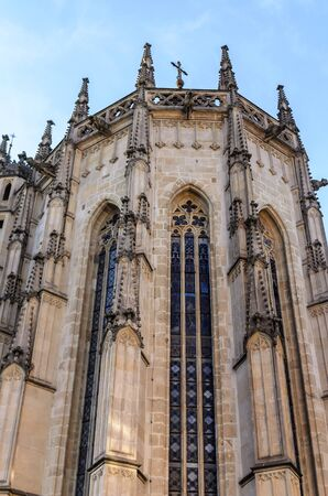 Gothic cathedral in Europe. Stock Photo