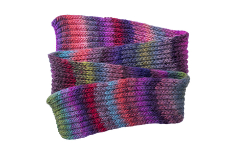 Multi-colored winter scarf. Stock Photo