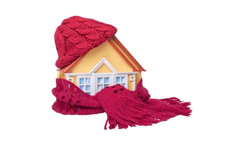 Huis is gewikkeld in een sjaal.