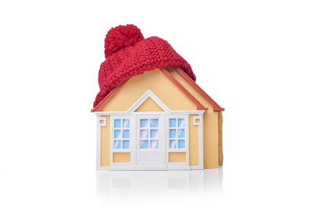 House is wrapped in a scarf.