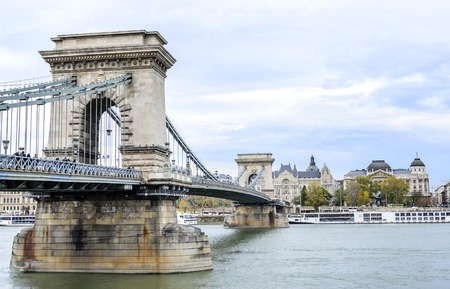 Szechenyi Bridge in Budapest.