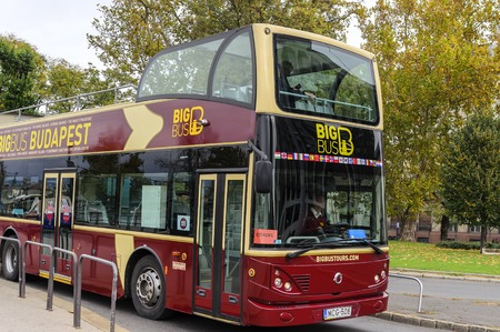 Sightseeing bus in Budapest.
