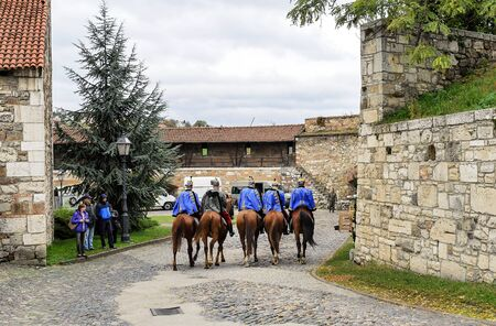 Cavalry in the Royal Palace of Budapest.