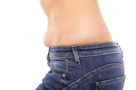 Fat on the abdomen.