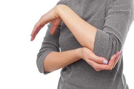 Pain in the elbow. Stock fotó