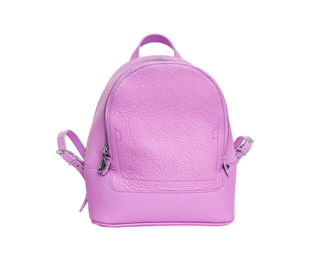 Pink female backpack.