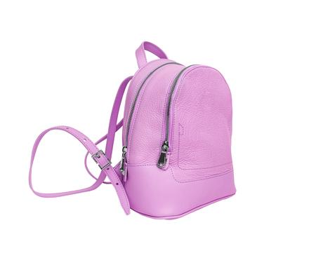 Pink female backpack.