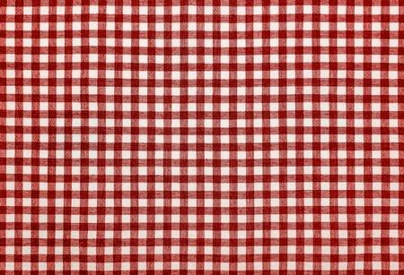 Red checkered napkin. 写真素材