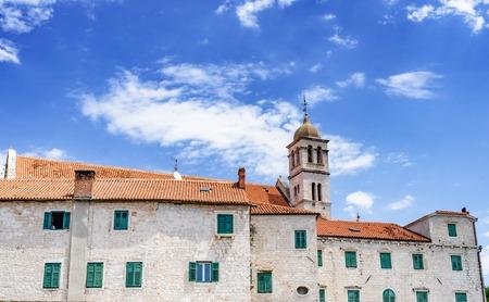 Houses of Sibenik. Popular tourist destination in Croatia