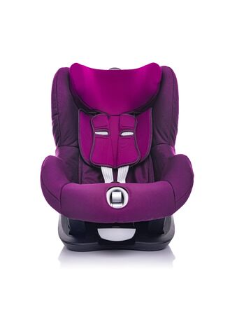 Child car seat on a white background.