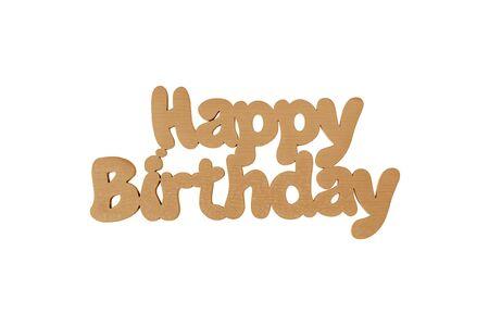 Inscription Happy Birthday. 版權商用圖片