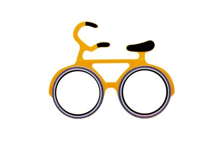 Bicycle glasses isolated.