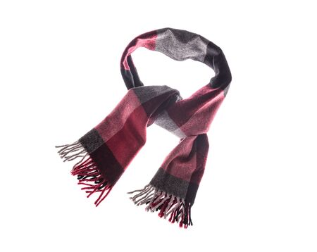 Winter classic scarf on a white background.