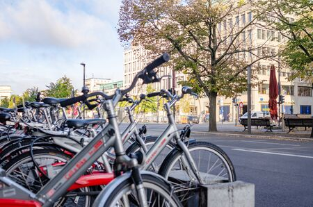 Bicycle rental on city streets