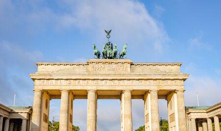 Brandenburg Gate in the morning.