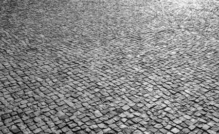 Brick stone street road. 版權商用圖片
