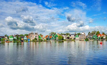 View of the village of Zaanse Schans s Netherlands.