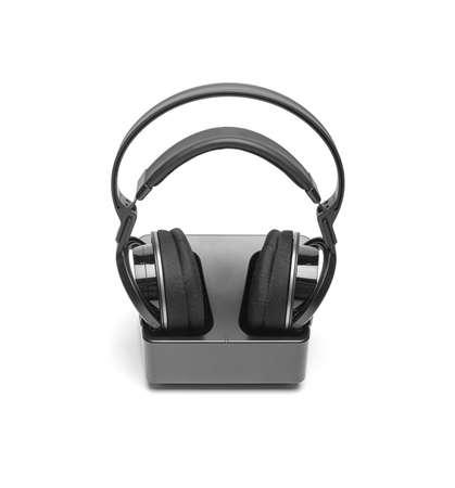 Wireless headphones on white background