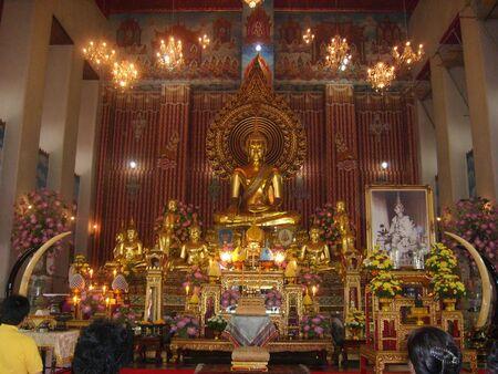Altar of Golden Buddha photo
