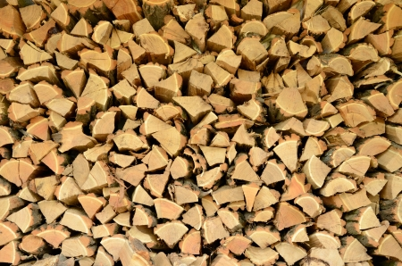 Full picture of firewood close-up Stock Photo