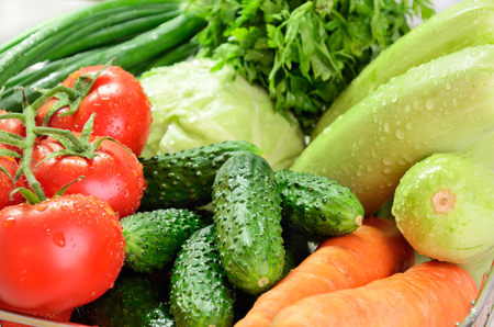 vegetables  closeup horizontal Stock Photo