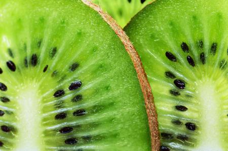horizontal format: sliced kiwi fruit on a full frame horizontal format Stock Photo