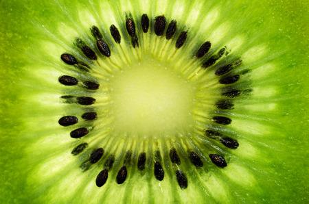 horizontal format: slice of kiwi fruit on a full frame horizontal format
