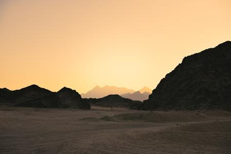 tinted image landscape of the Arabian Desert