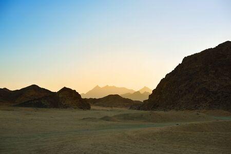 landscape of the Arabian Desert Stock Photo