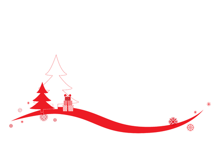 simple vector red white background for congratulations with winter holiday, horizontal