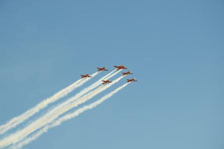 aircraft show aerobatics аt the air show