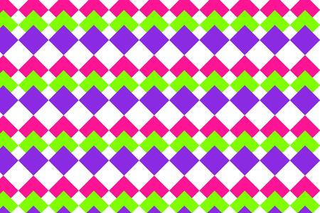 Bright print with geometric forms. Ornamental background with repeated rhombuses. Seamless surface pattern with pink, green, purple rhombuses. Digital paper, textile print. Foto de archivo - 118968999