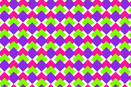 Ornamental background with repeated rhombuses. Bright print with geometric forms. Seamless surface pattern with pink, green, purple rhombuses. Digital paper, textile print. Foto de archivo - 118968998