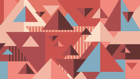 Geometric background. Triangles in pastel colors. Abstract model for websites, posters, banners