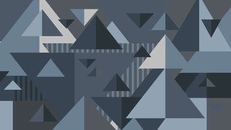 Geometric background. Triangles gray palette. Abstract model for websites, posters, banners