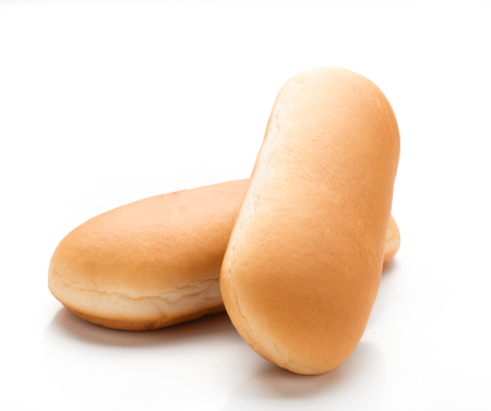 Hot dog buns isolated on white background