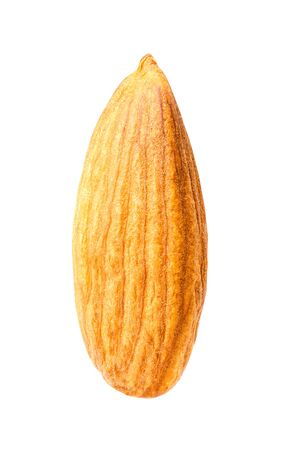Almond isolated on a white background with clipping path. Macro. Stock Photo
