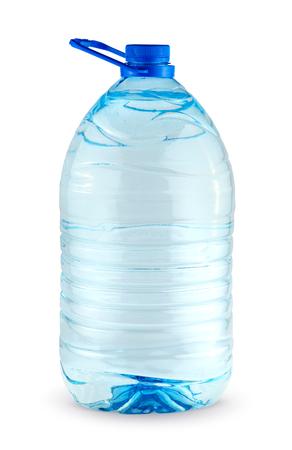 クリッピング パスと白い背景に分離された水の大きなボトルです。