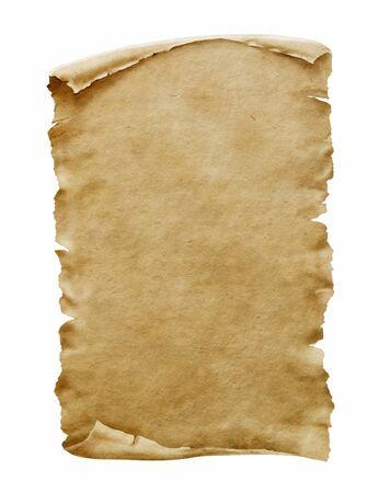 Altes Papiermanuskript oder Papyrusrolle vertikal ausgerichtet