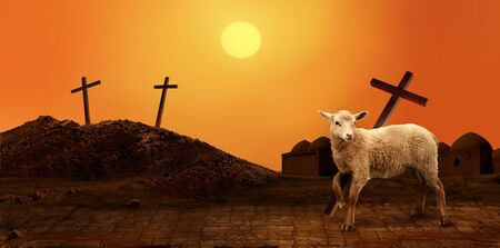 Jesus. Lamb of God. The atoning sacrifice of Jesus Christ Stok Fotoğraf