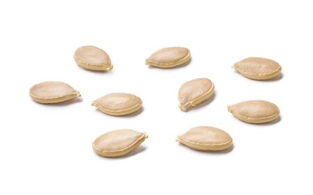 Whole Pumpkin seeds isolated on white background
