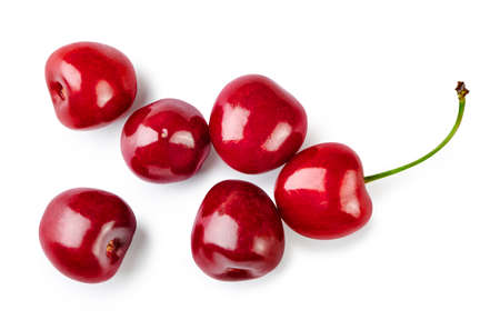 Cherry berries isolated on white background