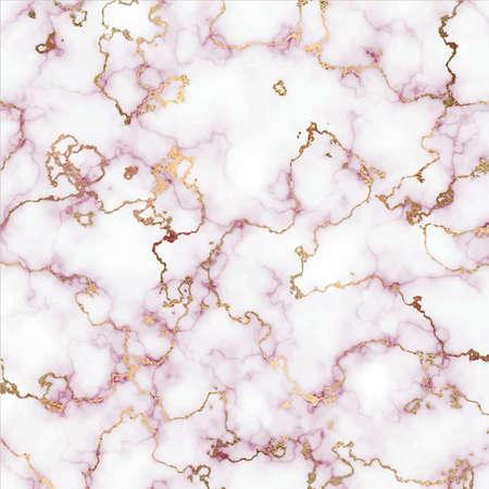 Pink marble canvas abstract painting background with gold line texture.
