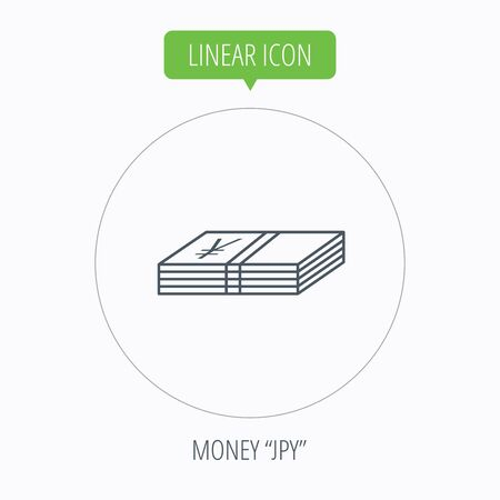 Cash Icon Yen Money Sign Jpy Currency Symbol Linear Outline
