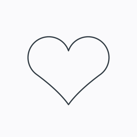 Heart icon. Love sign. Life symbol. Linear outline icon on white background. Vector