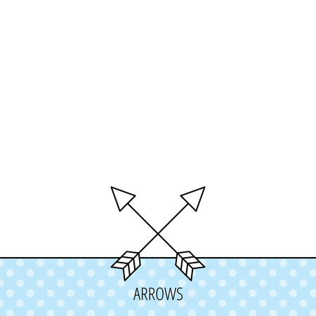 darts flying: Bow arrows icon. Hunting sport equipment sign. Archer weapon symbol. Circles seamless pattern. Background with icon. Vector