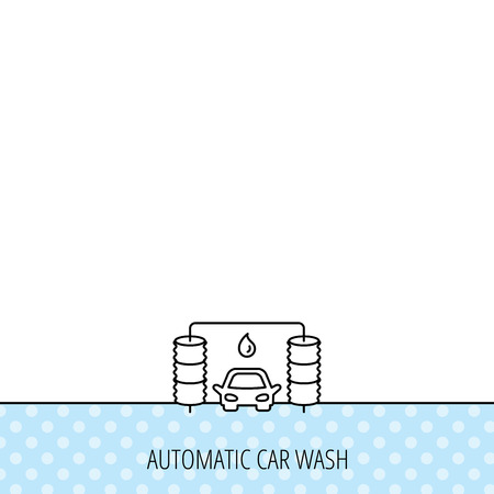 carwash: Automatic carwash icon. Cleaning station with water drop sign. Circles seamless pattern. Background with icon. Vector