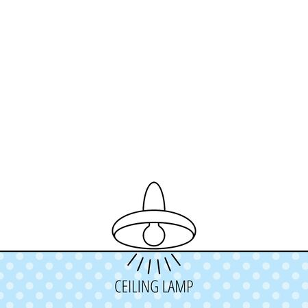 ceiling light: Ceiling lamp icon. Light illumination sign. Circles seamless pattern. Background with icon. Vector