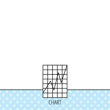 demand: Chart curve icon. Graph diagram sign. Demand growth symbol. Circles seamless pattern. Background with icon. Vector