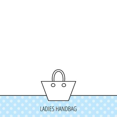 elegância: Ladies �cone bolsa. Mulheres da eleg�ncia sinal acess�rio. Circles seamless pattern. Fundo com �cone. Vetor Ilustração